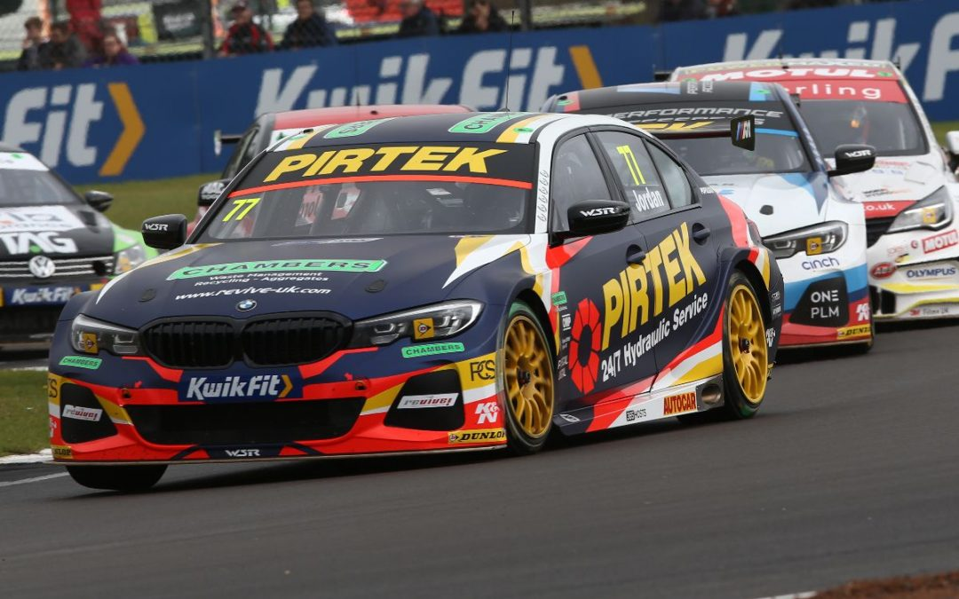 Andrew Jordan banks crucial points at Silverstone in race for BTCC title